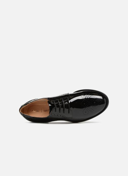 Chaussures à lacets Clarks Netley Rose Noir vue gauche