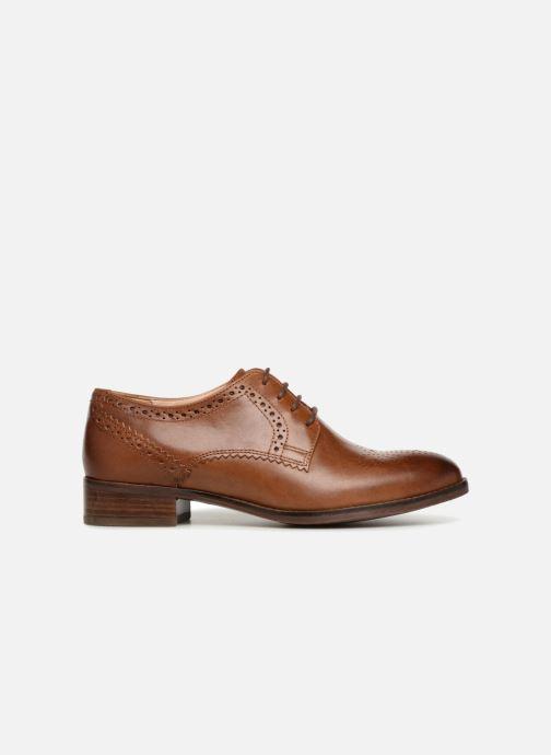 Snörade skor Clarks Netley Rose Brun bild från baksidan
