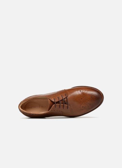Snörade skor Clarks Netley Rose Brun bild från vänster sidan