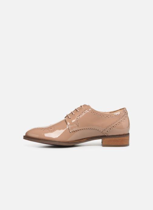 Zapatos con cordones Clarks Netley Rose Beige vista de frente