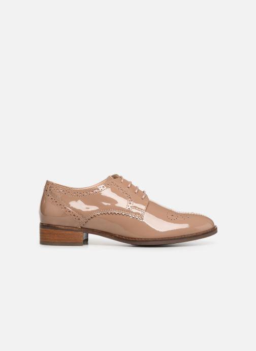Zapatos con cordones Clarks Netley Rose Beige vistra trasera