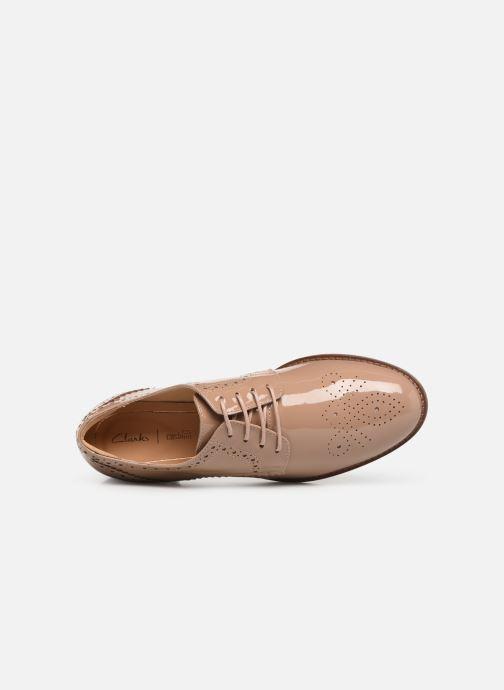 Zapatos con cordones Clarks Netley Rose Beige vista lateral izquierda