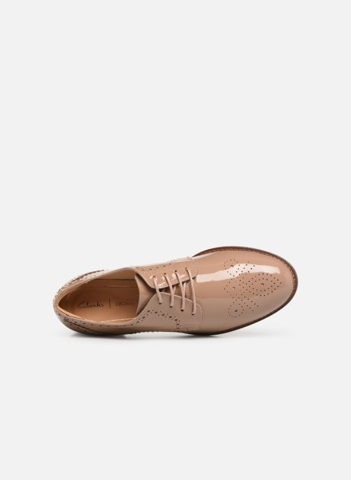 Lace-up shoes Clarks Netley Rose Beige view from the left