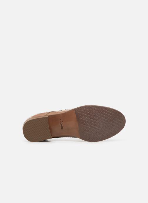 Chaussures à lacets Clarks Netley Rose Beige vue haut