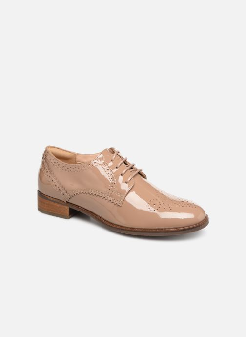 Zapatos con cordones Clarks Netley Rose Beige vista de detalle / par