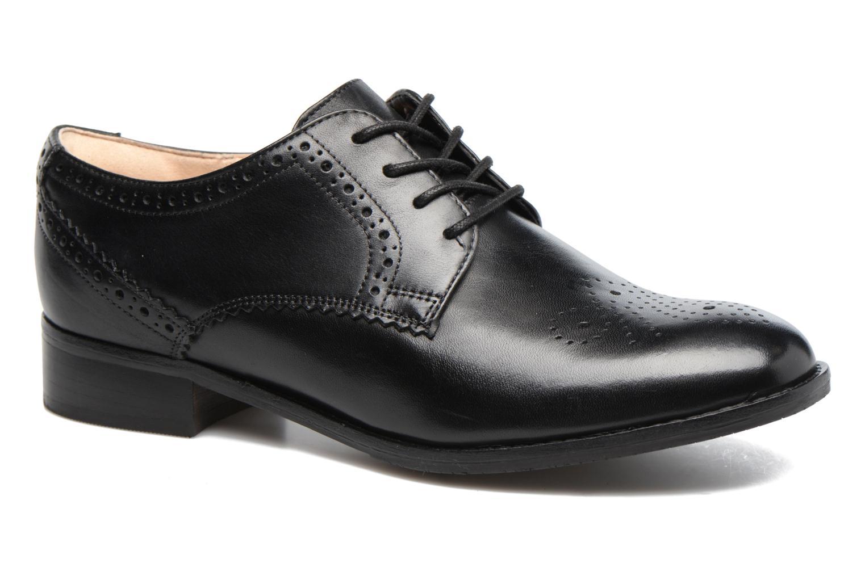 Chaussures à lacets Clarks Netley Rose Noir vue détail/paire