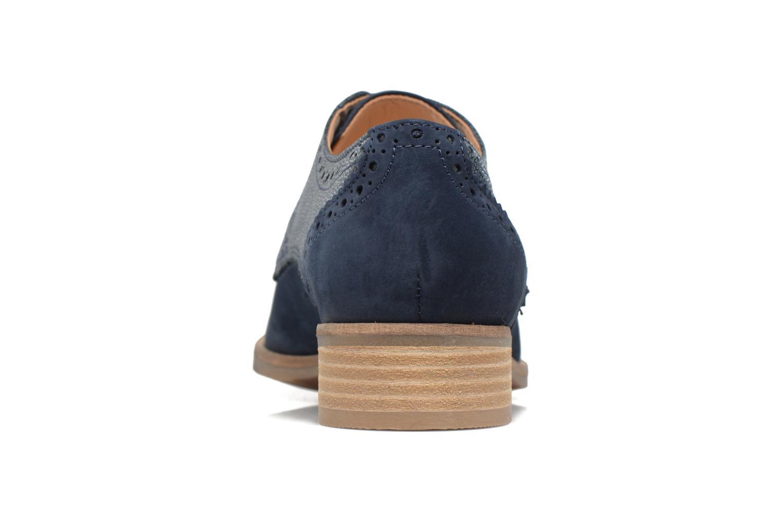 Chaussures à lacets Clarks Netley Rose Bleu vue droite