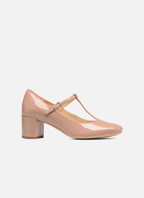 High heels Clarks Orabella Fern Beige back view