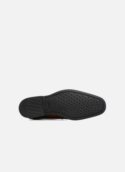 Chaussures à lacets Clarks Gilman Lace Marron vue haut