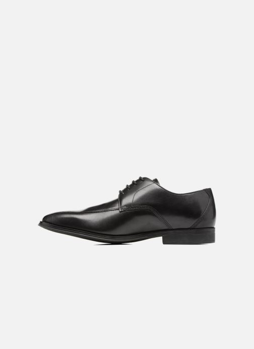 Lace-up shoes Clarks Gilman Mode Black front view