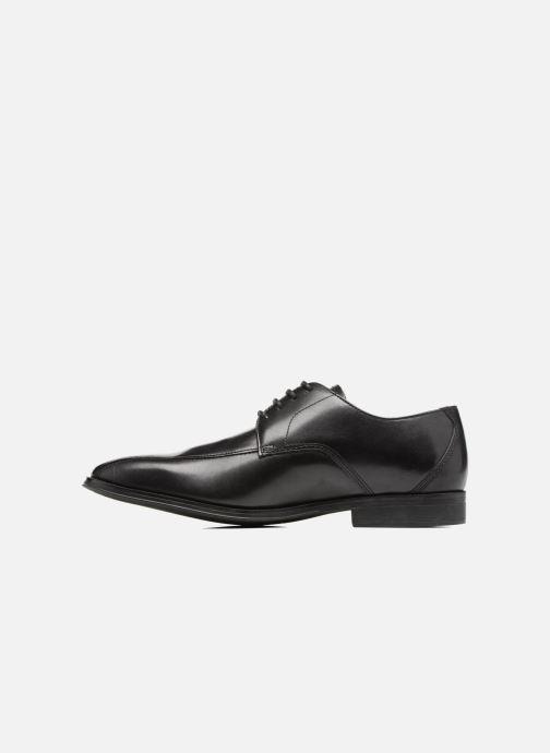 Chaussures à lacets Clarks Gilman Mode Noir vue face