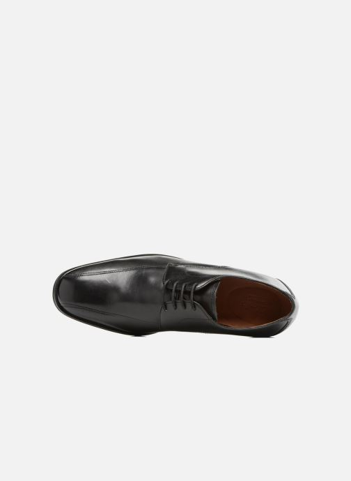 Lace-up shoes Clarks Gilman Mode Black view from the left