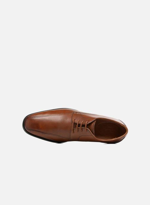 Zapatos con cordones Clarks Gilman Mode Marrón vista lateral izquierda