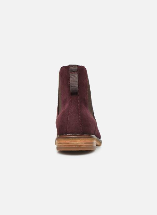 Bottines et boots Clarks Clarkdale Gobi Bordeaux vue droite