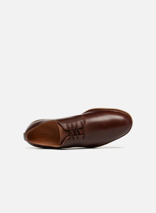 Zapatos con cordones Clarks Clarkdale Moon Marrón vista lateral izquierda