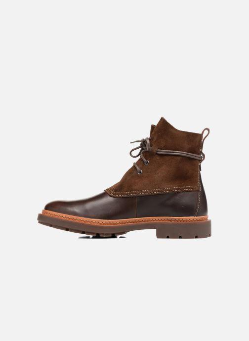 Bottines et boots Clarks Trace Dusk Marron vue face