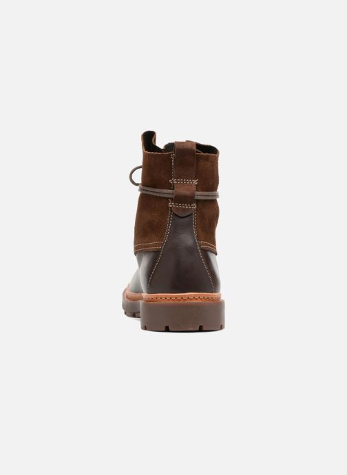 Ankle boots Clarks Trace Dusk Brown view from the right