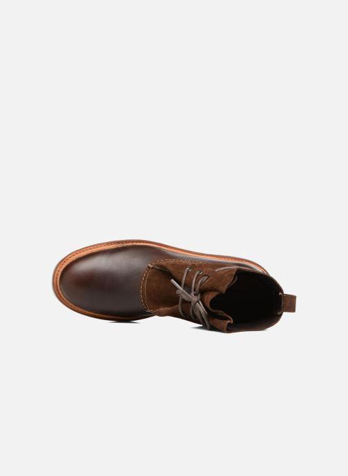Bottines et boots Clarks Trace Dusk Marron vue gauche