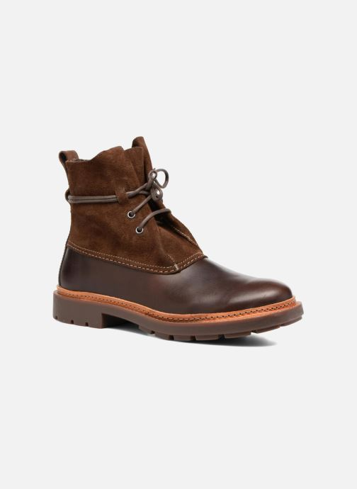 Ankle boots Clarks Trace Dusk Brown detailed view/ Pair view