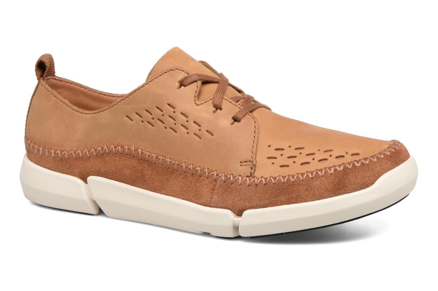 Baskets Clarks Trifri Lace Marron vue détail/paire