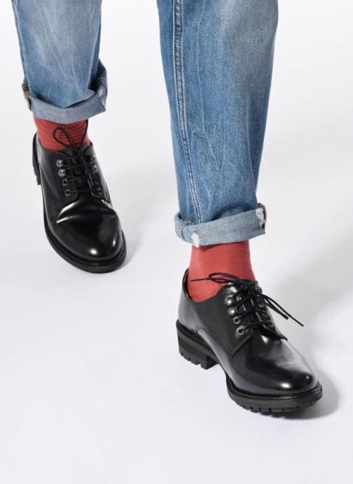 Chaussures à lacets Made by SARENZA Winter Ski #14 Bleu vue bas / vue portée sac