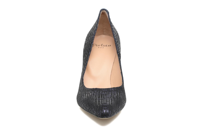 Escarpins Perlato Balmore Bleu vue portées chaussures