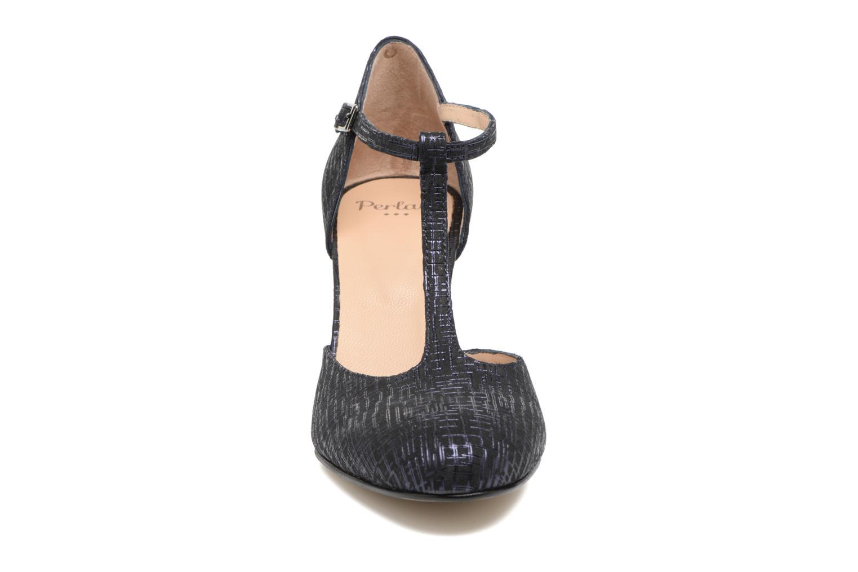 Escarpins Perlato Balda Bleu vue portées chaussures
