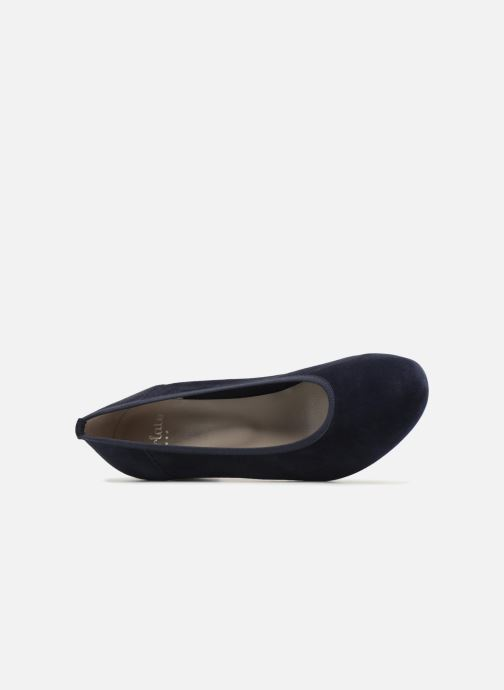 Zapatos de tacón Perlato 10366 Azul vista lateral izquierda