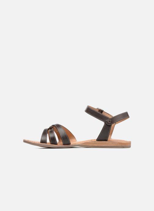Sandales et nu-pieds Les Tropéziennes par M Belarbi Balisto Marron vue face