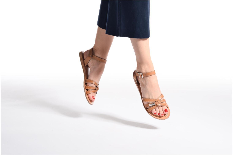 Sandales et nu-pieds Les Tropéziennes par M Belarbi Balisto Rose vue bas / vue portée sac