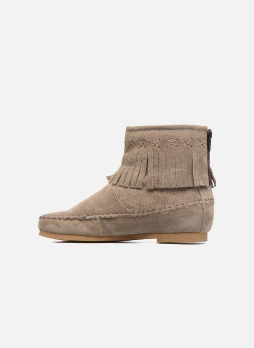 Bottines et boots Les Tropéziennes par M Belarbi Crabe J Beige vue face