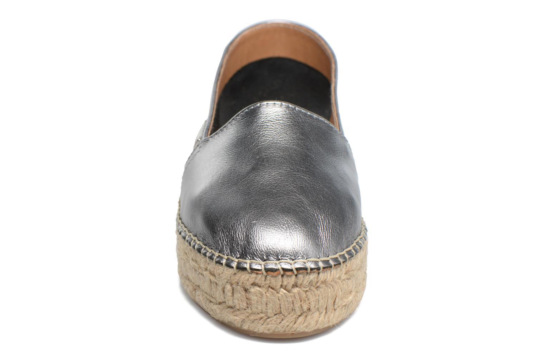 Espadrilles Les Tropéziennes par M Belarbi Dreva Gris vue portées chaussures