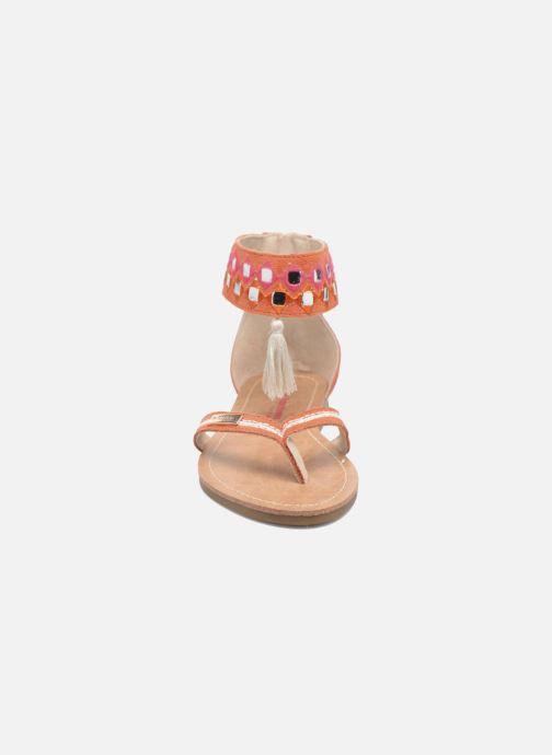 Sandales et nu-pieds Les Tropéziennes par M Belarbi Galactik W Orange vue portées chaussures