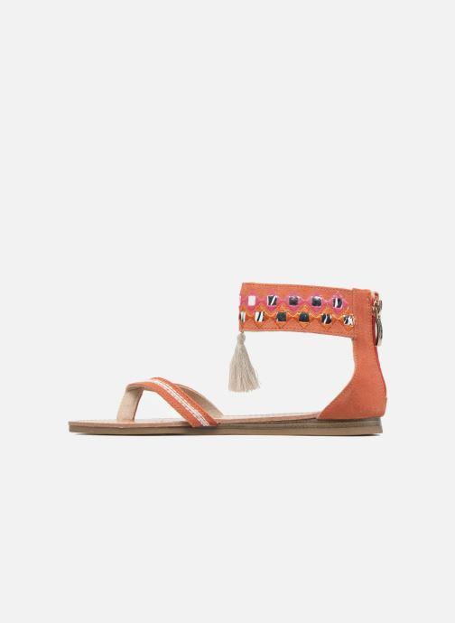 Sandales et nu-pieds Les Tropéziennes par M Belarbi Galactik W Orange vue face
