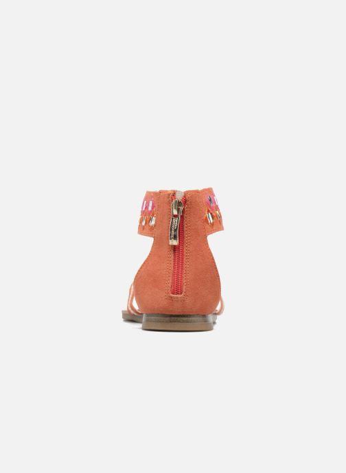 Sandales et nu-pieds Les Tropéziennes par M Belarbi Galactik W Orange vue droite