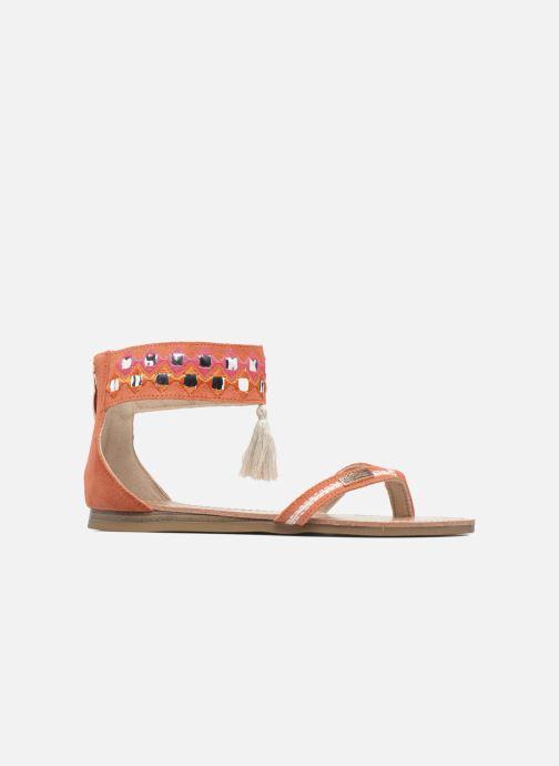 Sandales et nu-pieds Les Tropéziennes par M Belarbi Galactik W Orange vue derrière
