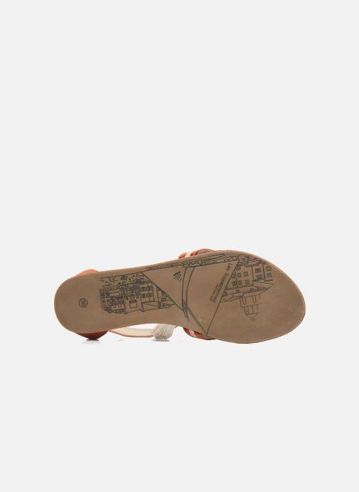 Sandales et nu-pieds Les Tropéziennes par M Belarbi Galactik W Orange vue haut