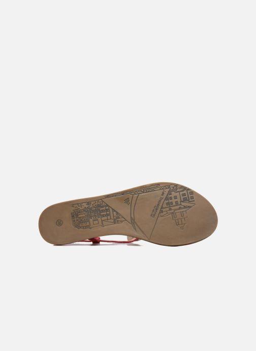 Sandales et nu-pieds Les Tropéziennes par M Belarbi Geronima Rouge vue haut