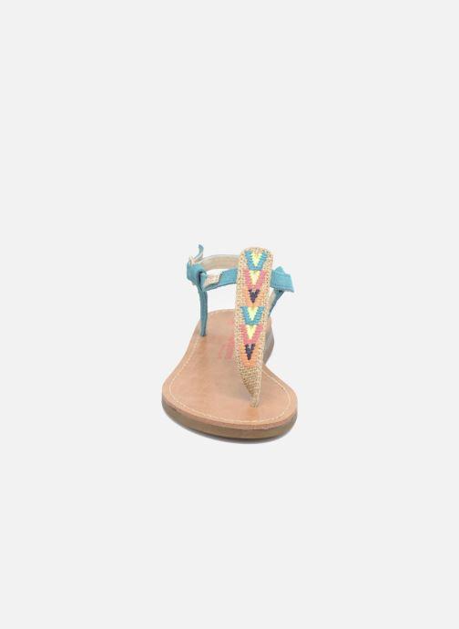 Sandalias Les Tropéziennes par M Belarbi Geronima Azul vista del modelo