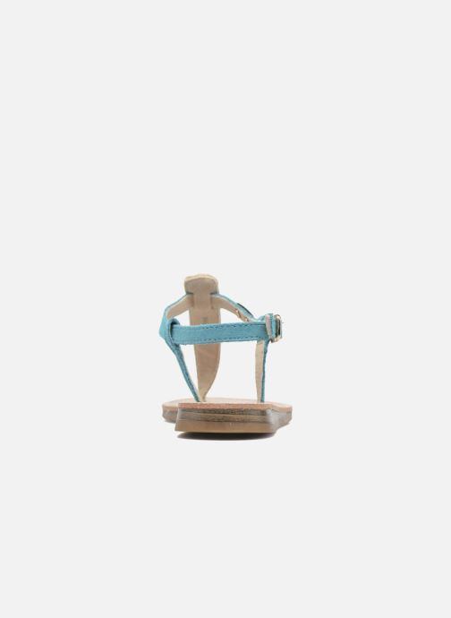 Sandalias Les Tropéziennes par M Belarbi Geronima Azul vista lateral derecha