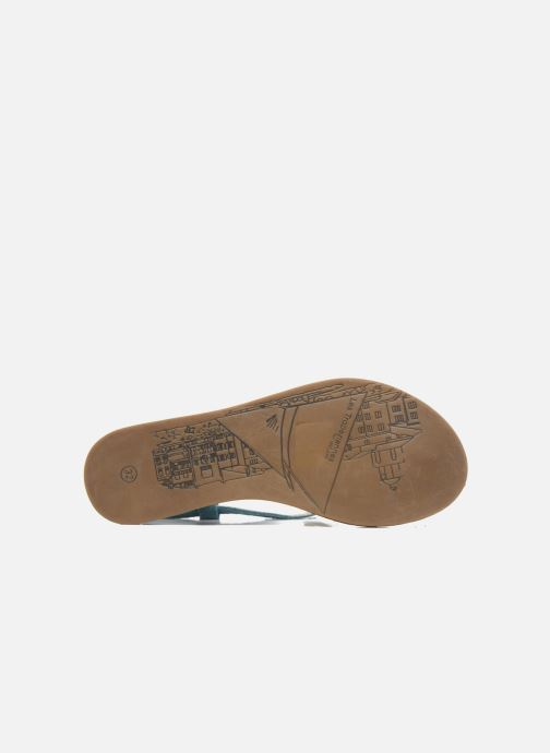 Sandalias Les Tropéziennes par M Belarbi Geronima Azul vista de arriba