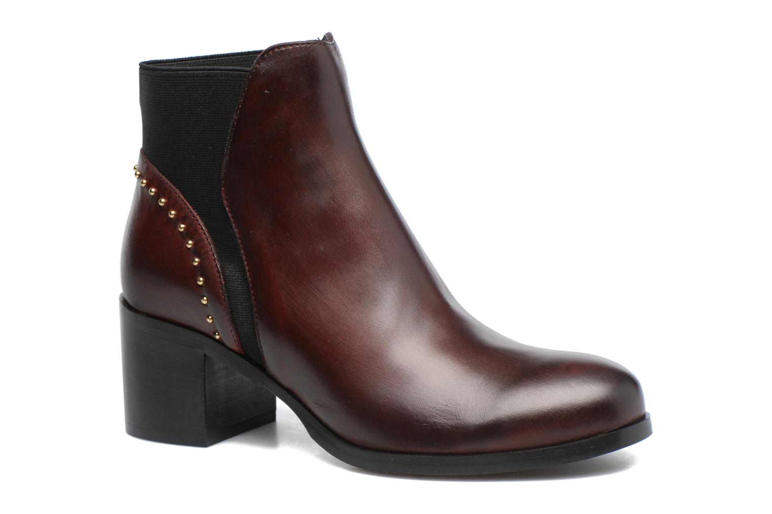 Ankle boots Georgia Rose Soulia Burgundy detailed view/ Pair view