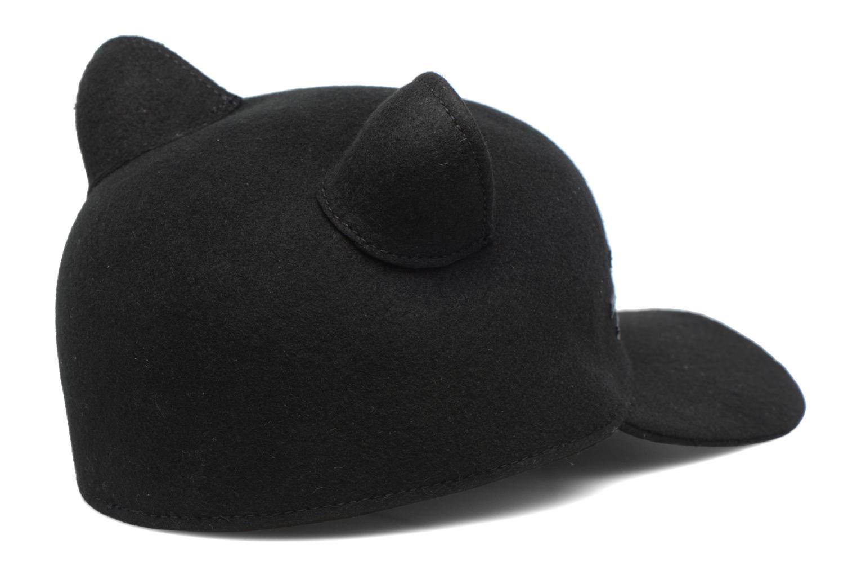 Casquettes KARL LAGERFELD Cat Cap Pearl Noir vue portées chaussures