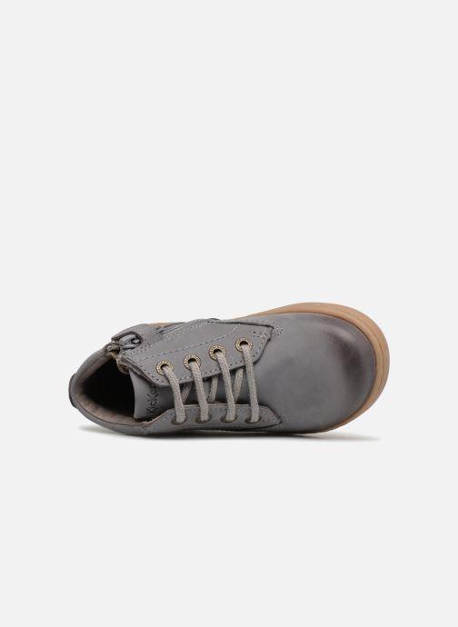 Boots en enkellaarsjes Kickers Tackland Grijs links
