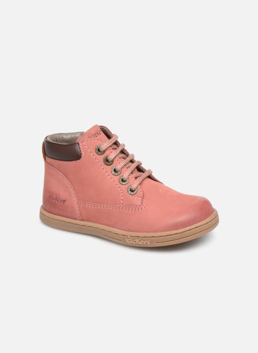 Bottines et boots Kickers Tackland Rose vue détail/paire