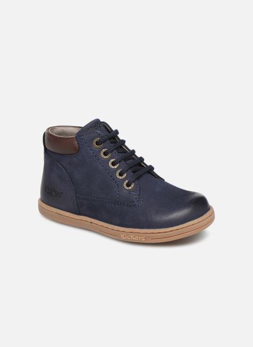 Bottines et boots Kickers Tackland Bleu vue détail/paire