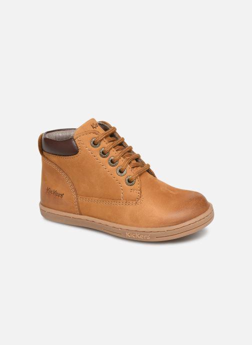 Bottines et boots Kickers Tackland Jaune vue détail/paire