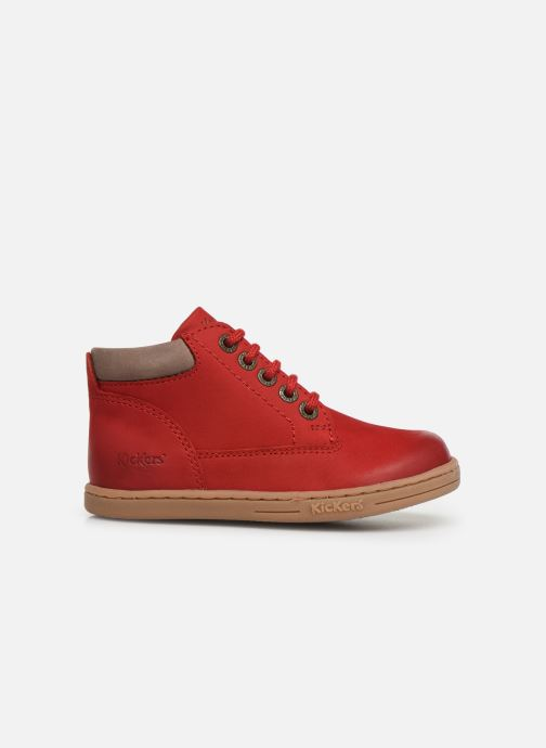 Boots en enkellaarsjes Kickers Tackland Rood achterkant