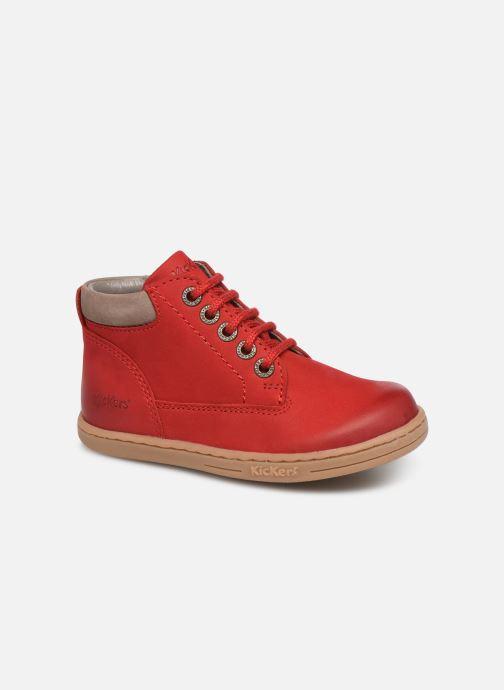 Bottines et boots Kickers Tackland Rouge vue détail/paire