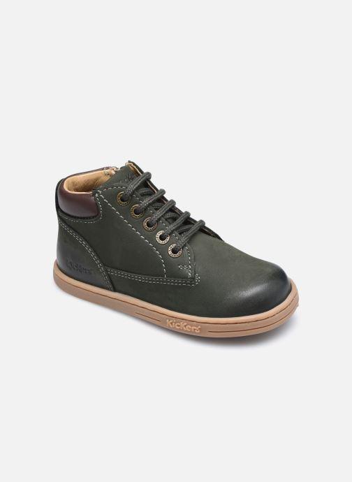 Bottines et boots Kickers Tackland Vert vue détail/paire